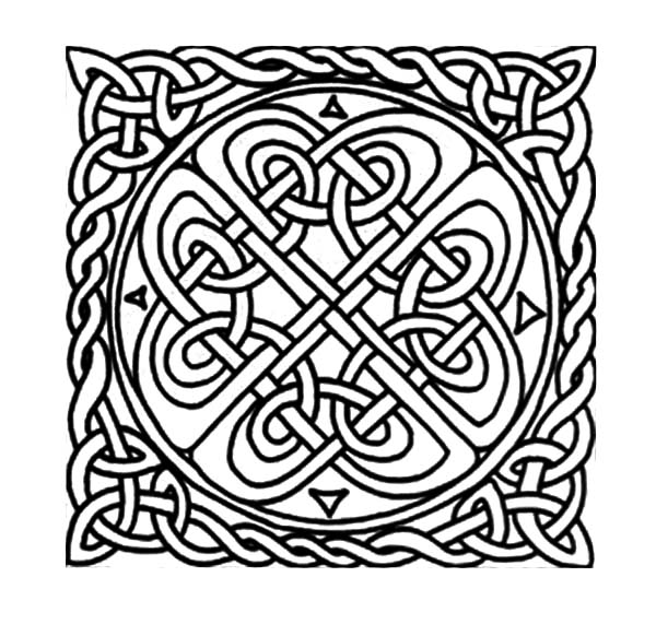 600x571 Celtic Knot Patterns Celtic Cross Coloring Pages Best Place To Color