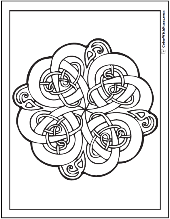 590x762 Celtic Knots Coloring Pages Swirls, Vines, And Leaves
