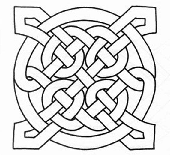 567x517 Color A Celtic Knot