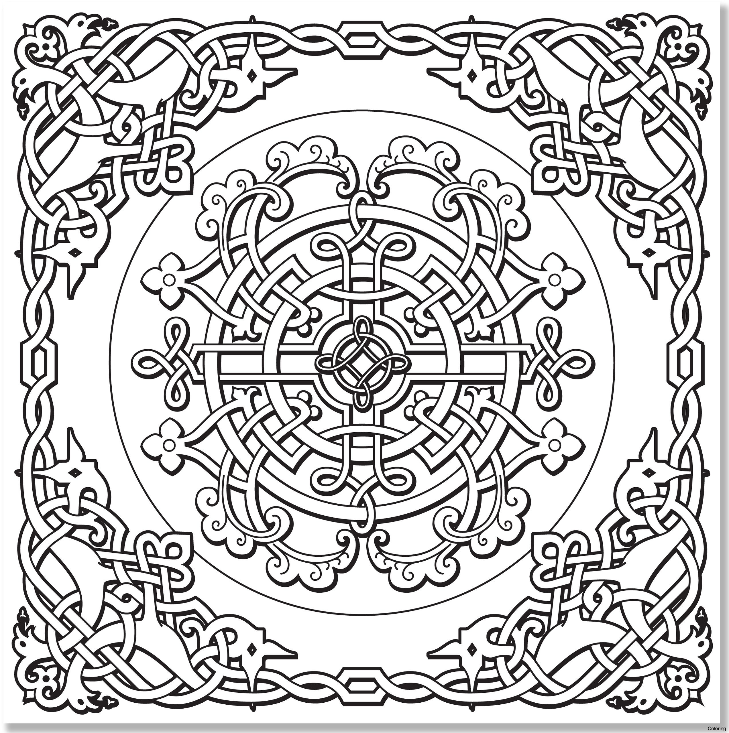 2545x2560 Free Printable Celtic Designs Coloring Pages Mandala For Adults