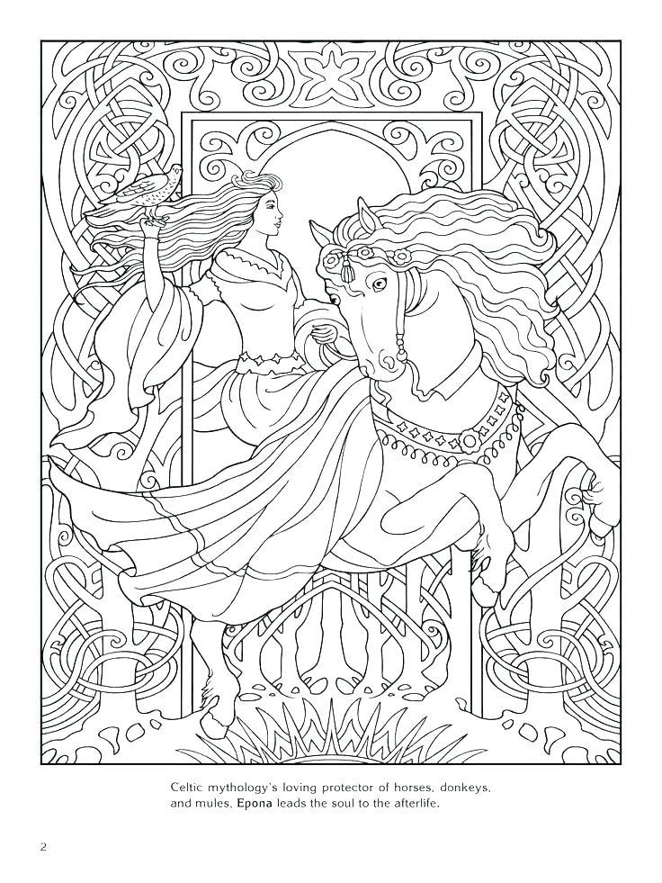736x981 Celtic Coloring Pages