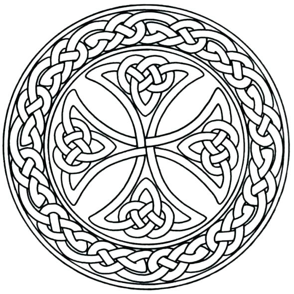 590x590 Celtic Knot Coloring Pages