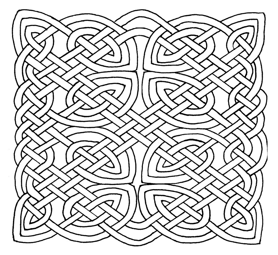 900x825 Celtic Knot Colouring Pages Unique Celtic Knot Coloring Pages