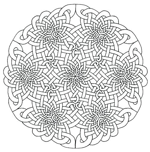 500x508 Mandalas To Color Mandala Coloring Pages Knot Mandalas To Color