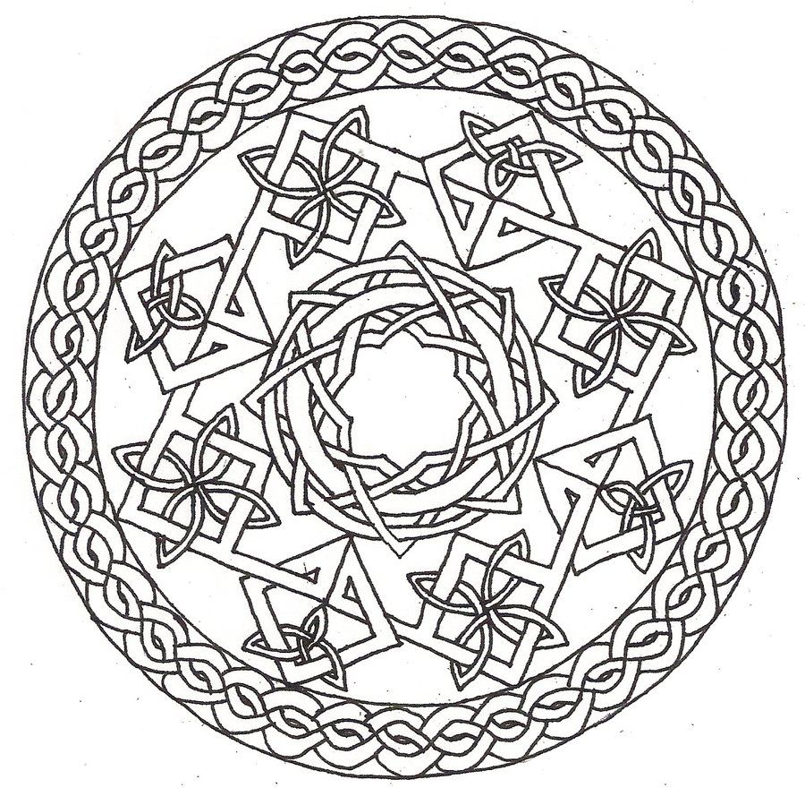 Celtic Mandala Coloring Pages At Getdrawings Com Free For Personal