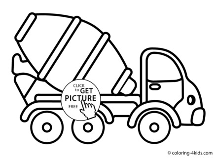 440x330 Cement Truck Coloring Page Loads More Trucks And Cars To Chose
