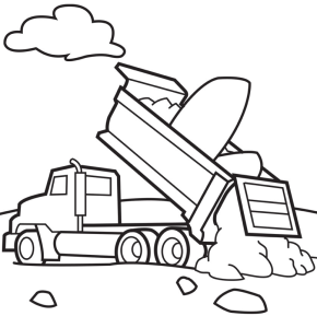 290x289 Cement Truck Coloring Page Coloring Book