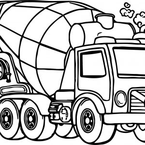 300x300 Coloring Pages Cement Truck Fresh Awesome Cement Mixer Truck