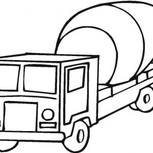 300x300 Coloring Pages Cement Truck New Cement Mixer Coloring Page