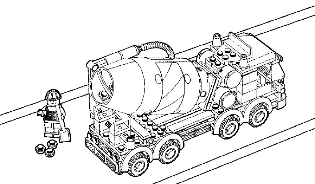 1024x600 Lego Cement Truck Coloring Pages Free Coloring Pages For Kids