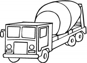 300x216 Street Sweeper Truck Coloring Page