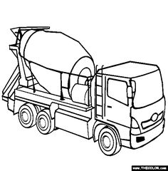 236x240 Tons Of Coloring Pages For Kids Lots Of Construction Trucks