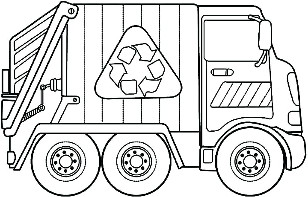 1024x657 Cement Mixer Coloring Page