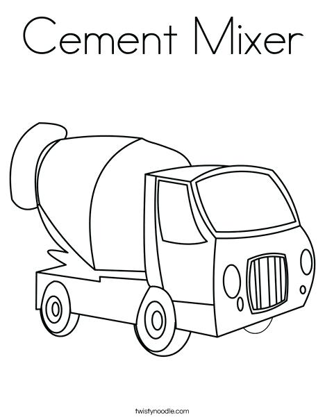 468x605 Cement Mixer Coloring Pages