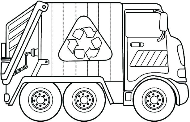 615x395 Truck Coloring Pages