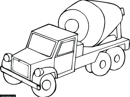 440x330 Cement Mixer Coloring Pages Cement Mixer Truck Printable Coloring
