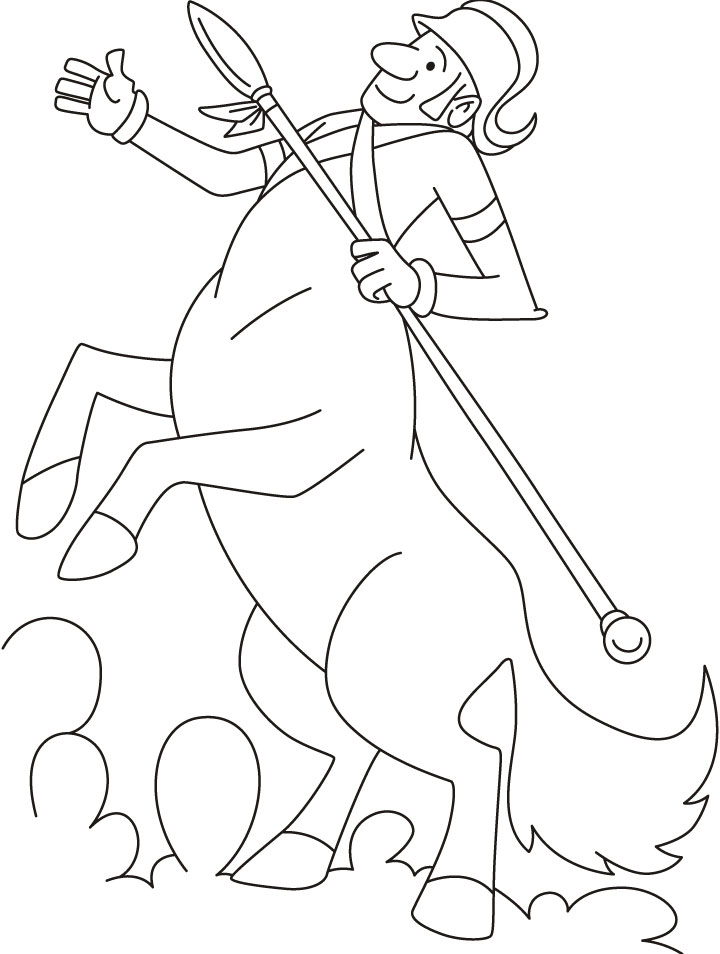 720x954 Centaur Coloring Pages Many Interesting Cliparts