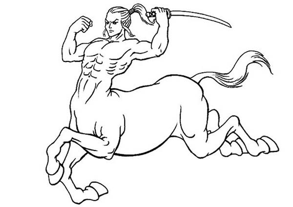 600x425 Centaur Coloring Pages Printable