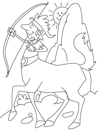 420x556 Centaur With A Bow And Arrow Coloring Pages Download Free