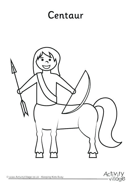 460x650 Ancient Greek Gods Coloring Pages Page Centaur Colouring