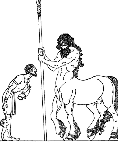 387x480 Jason And The Centaur Coloring Page