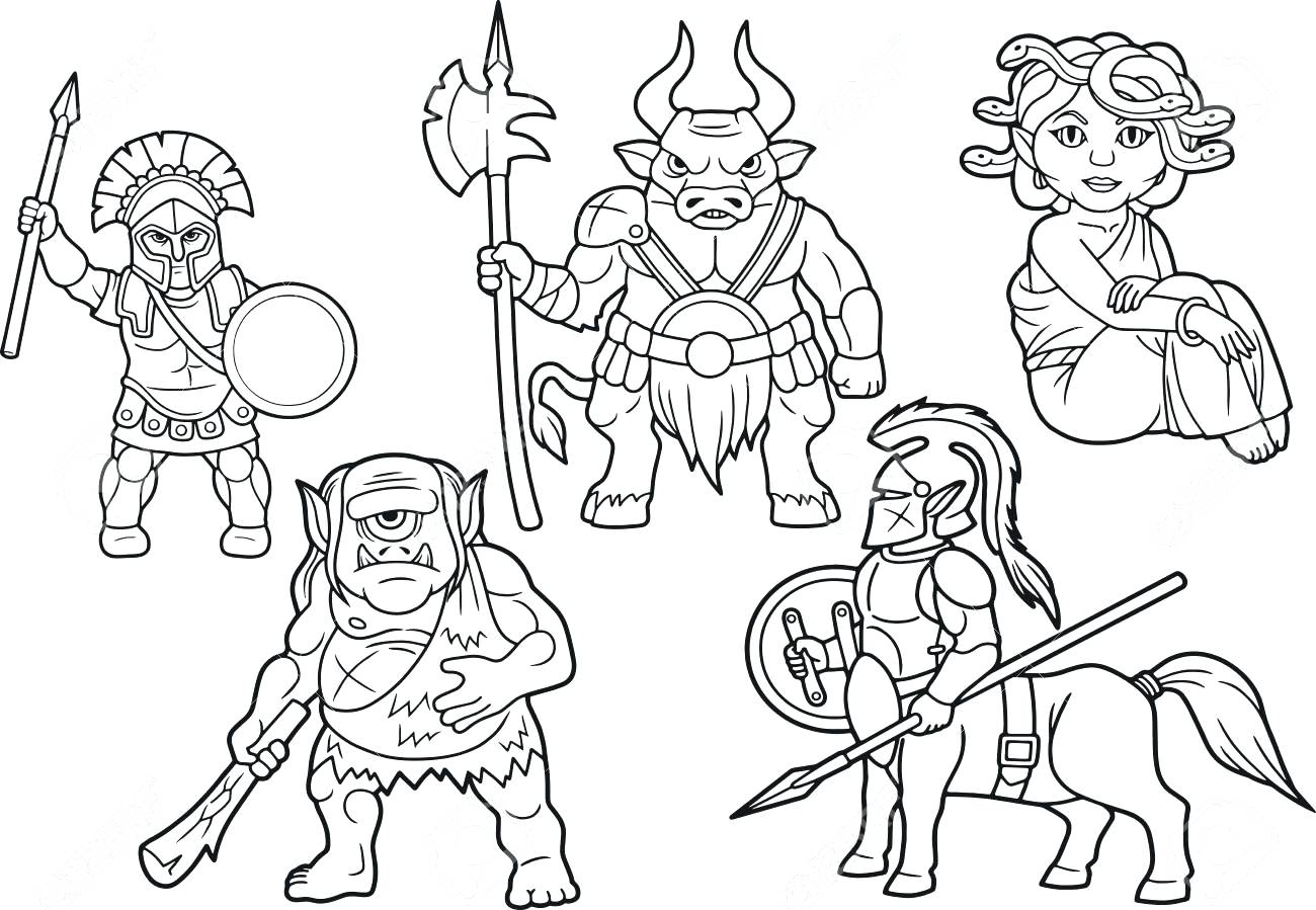 1300x899 Popular Centaur Coloring Page Pages Thanksgiving Mythology Set