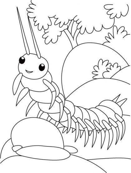 420x553 Centipede Trying Ramp Walk Coloring Pages Download Free