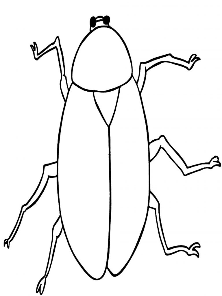 768x1024 Cartoon Cockroach Coloring Pages