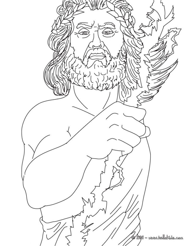 792x1024 Gods Coloring Pages Hades Greek Mythology Sheets Poseidon God