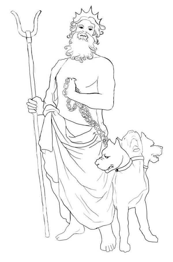 600x905 How To Draw Hades And Cerberus Coloring Page