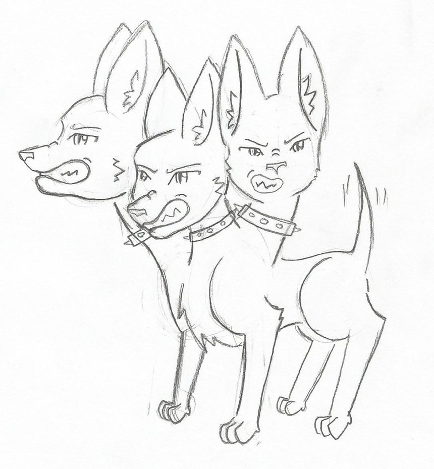 860x929 Cerberus Coloring Pages