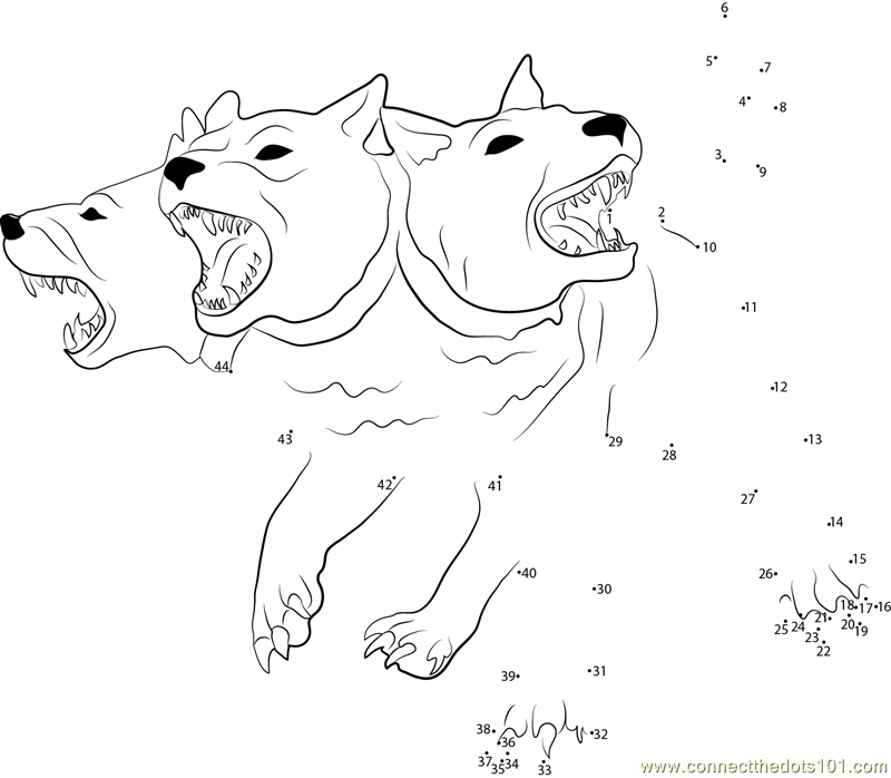 800x698 Cerberus Coloring Pages