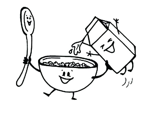 600x464 Breakfast Coloring Pages Breakfast Coloring Page Coloring Pages As