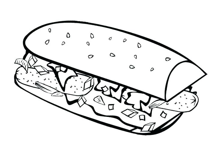 736x539 Breakfast Coloring Pages Breakfast Coloring Pages Fast Food