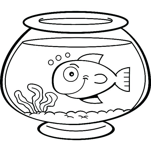 600x600 Fish Bowl For Kids Colour Drawing For Kids Colour Drawing Free
