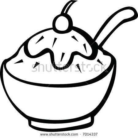 450x450 Ice Cream Bowl Coloring Together With Cereal Bowl Coloring Page