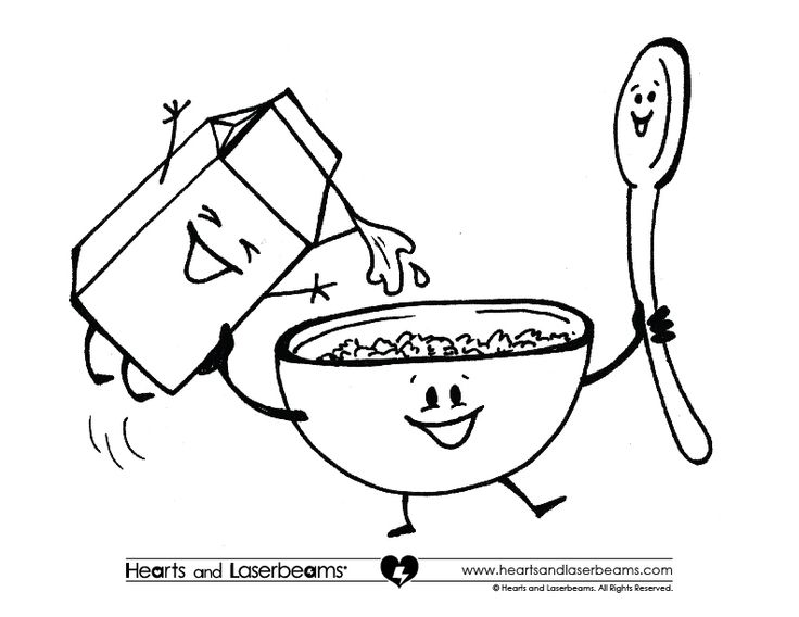 736x568 Cereal Coloring Pages Color Bros