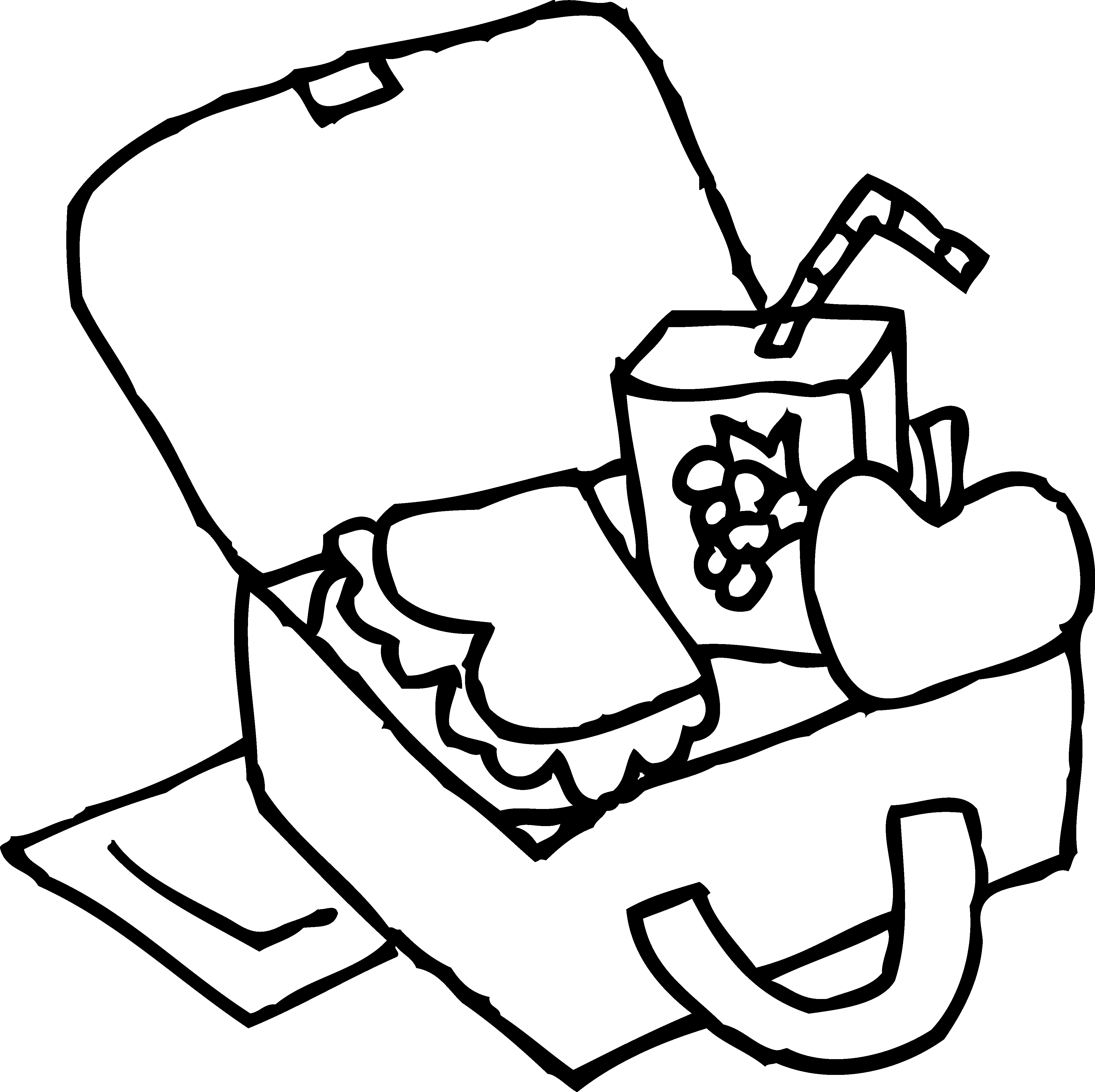 4097x4086 Healthy Lunch Box Coloring Pages