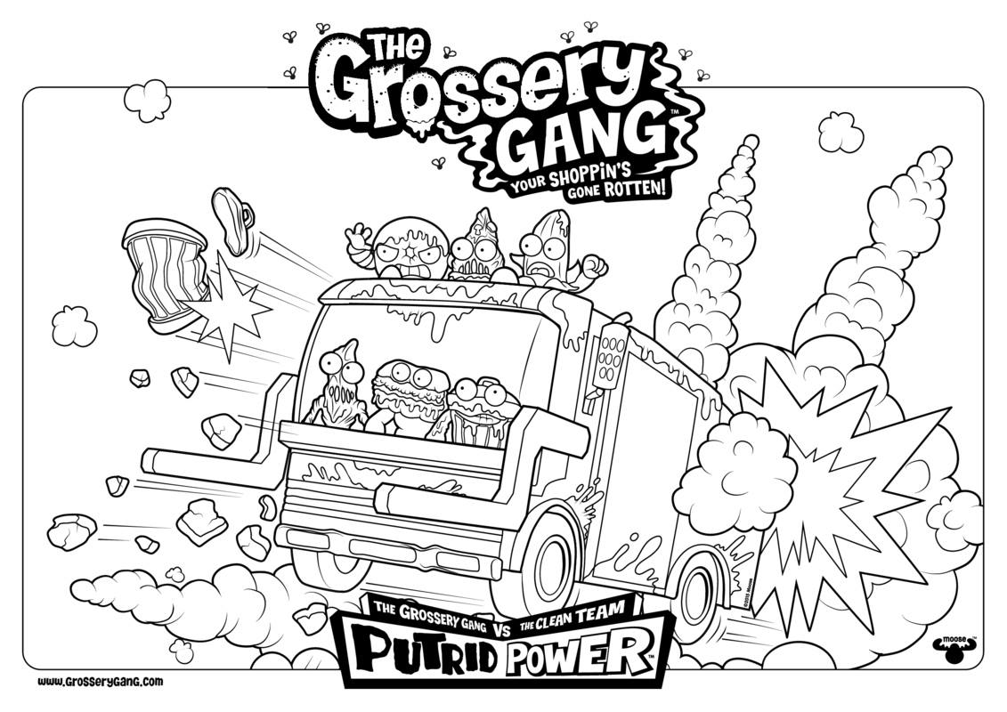 1131x800 Lifetime Grossery Gang Coloring Pages The Chun