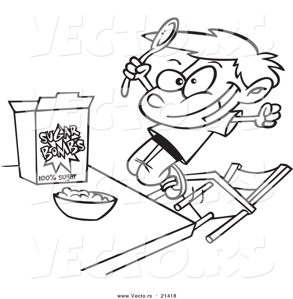 1024x1044 Bowl Of Cereal Coloring Pages