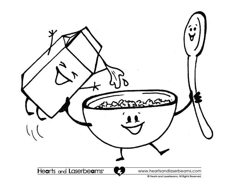 792x612 Cereal Box Coloring Pages