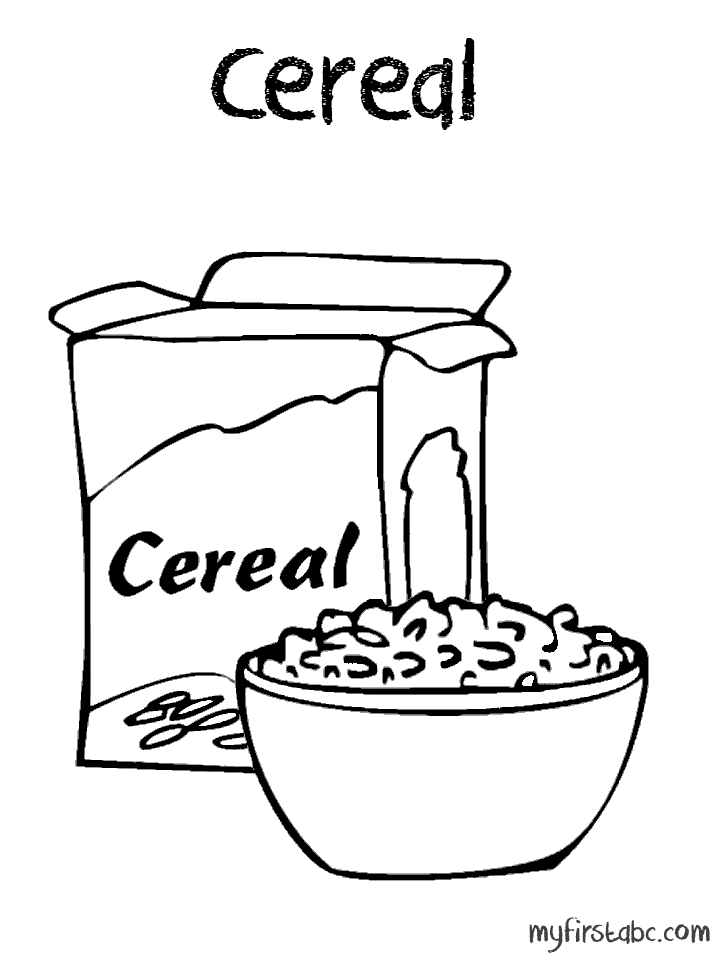 718x958 Cereal Coloring Page