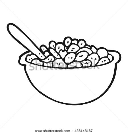 450x470 Bowl Of Cereal Coloring Pages