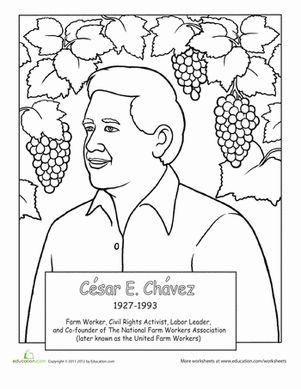 Cesar Chavez Coloring Page