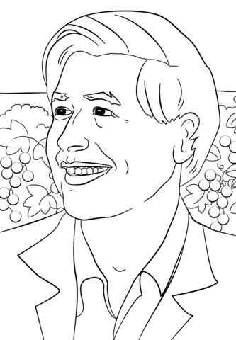 333x480 Cesar Chavez Coloring Page