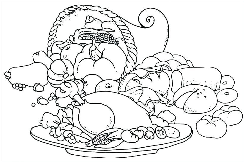 825x550 Food Chain Coloring Page