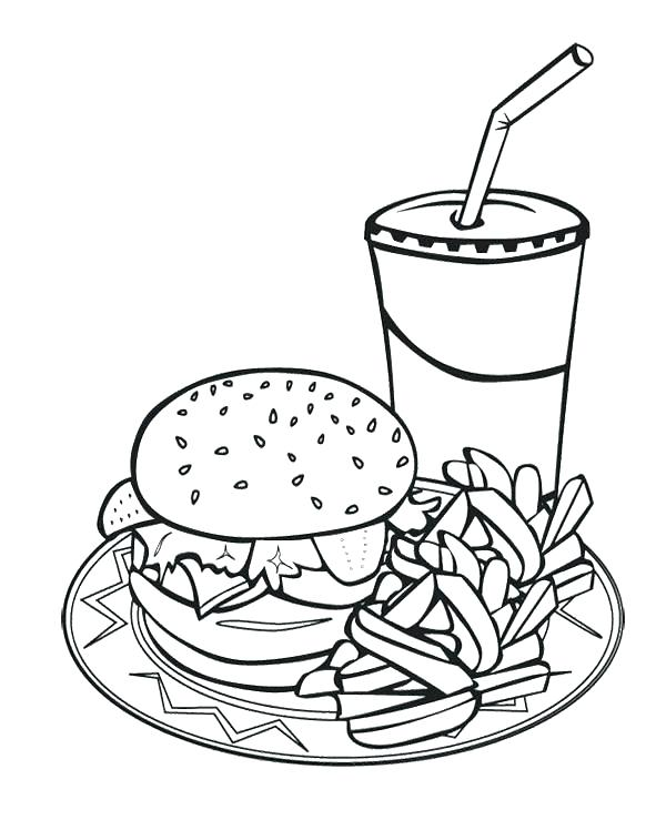 600x739 Food Chain Coloring Pages Food Coloring Pages Food Coloring Page