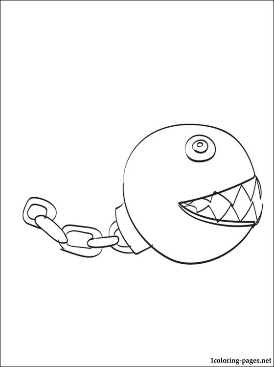560x750 Chain Chomps Mario Coloring Page Coloring Pages