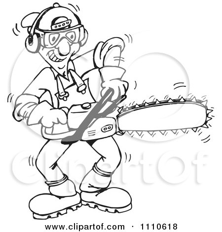 450x470 Chainsaw Tree Cutter Coloring Pages