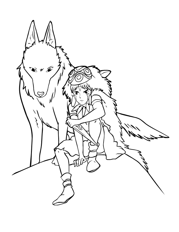 612x792 Princess Mononoke Coloring Pages